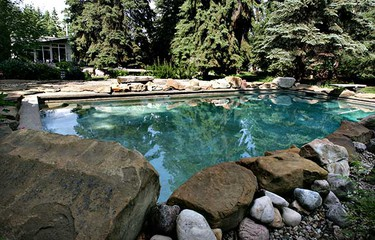 The pool at the rear of the house. (AMBER BRACKEN/Sun Media)