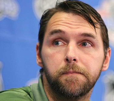 Then Edmonton Oiler Dwayne Roloson speaks with the media during a news conference at the RBC Center in Raleigh, N.C., on Tuesday June 6, 2006. (Darryl Dyck/Sun Media)