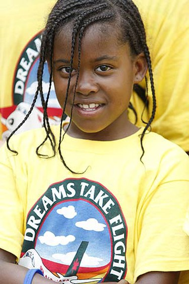 Alia, 10, was one of 300 special needs children that went on a magnificent voyage to the Magic Kingdom in Orlando, Florida on June 4 2009. (ALEX UROSEVIC, Sun Media)
