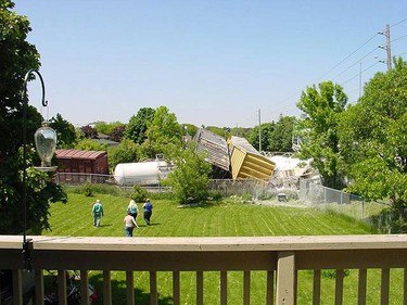 Scene photos of a freight train derailment in Oshawa on June 5, 2009. (Photo by Mark Pare)