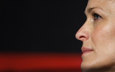 Jury member and U.S. actress Robin Wright Penn attends a news conference at the 62nd Cannes Film Festival May 13, 2009.   REUTERS/Vincent Kessler
