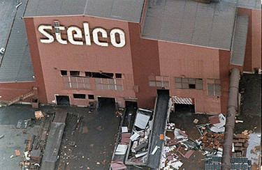Stelco was among the businesses in the industrial park that suffered the most damage. ((Sun file photo))
