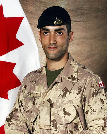 Trooper Marc Diab, March 8, 2009: Killed when an improvised explosive device detonated near an armoured vehicle during a patrol northeast of Kandahar City, the Canadian government said. Four other soldiers were injured in the explosion. (HO) ()