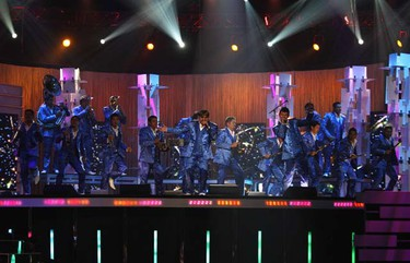 Mexican band El Recodo perform at the 2009 Billboard Latin Music Awards in Miami on April 23, 2009. (REUTERS)