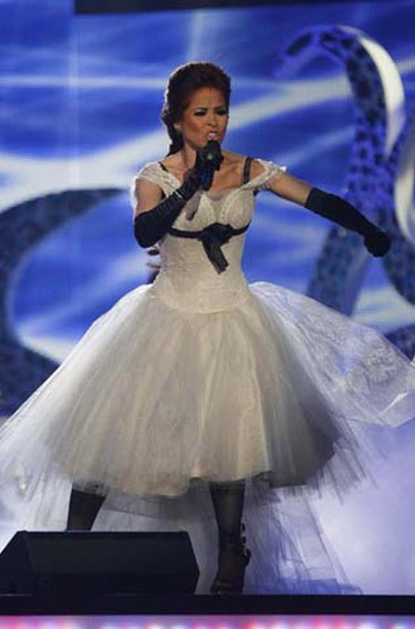 Mexican singer Gloria Trevi performs at the 2009 Billboard Latin Music Awards in Miami on April 23, 2009. (REUTERS)