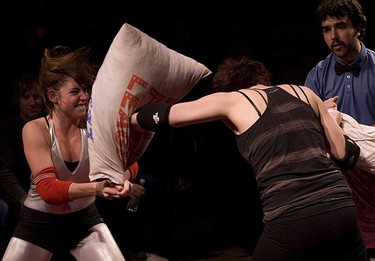 Photos from the new Pillow Fight League held at The Mod Club in downtown Toronto. (DAVE THOMAS, Toronto Sun)