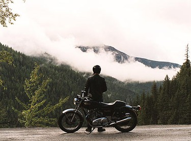 The Canadian made One Week stars Joshua Jackson as Ben Tyler, a Toronto teacher who, when diagnosed with cancer, buys a 1973 Norton Commando motorcycle and drives from Toronto to Vancouver Island, discovering Canadian people and places along the way. (Courtesy Mongrel Media)