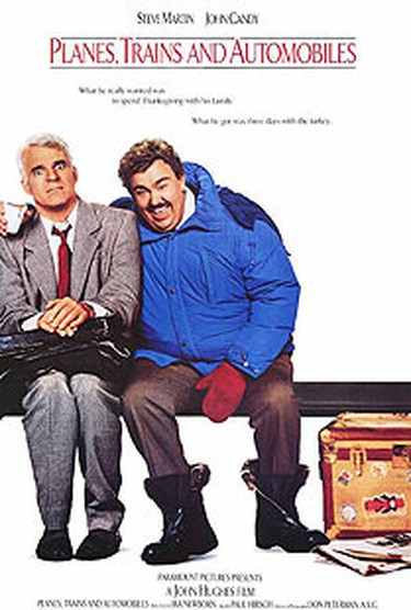 In the John Hughes directed Planes, Trains and Automobiles, Steve Martin and John Candy play an odd couple who must overcome all obstacles - no matter how unexpected or strange - to journey from New York City to Chicago for Thanksgiving. (Courtesy Paramount Pictures)