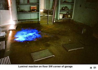 Police photos of Mark Twitchell's garage at 5712 40 Ave were presented at court in Edmonton, Alta. on March 17, 2011. (Court evidence)