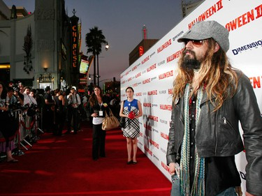 """Director and producer Rob Zombie poses at the premiere of the movie """"Halloween II"""" at the Grauman's Chinese theatre in Hollywood, California August 24, 2009. The movie opens in the U.S. on August 28.  (REUTERS)"""