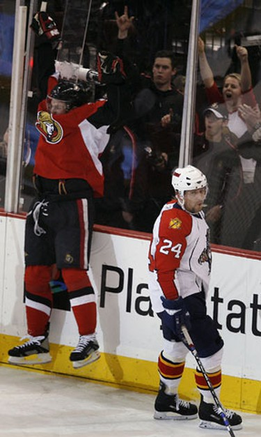 Feb 7, 2008  Dany Heatley from the Ottawa Senators celebrates his second goal against the Florida Panthers during third period action Thursday night at Scotiabank Place. (Tony Caldwell, Sun Media)