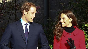 Prince William and Kate Middleton return to St. Andrews University, where they first met, to launch its 600th anniversary celebrations on February 25, 2011. (WENN.COM)