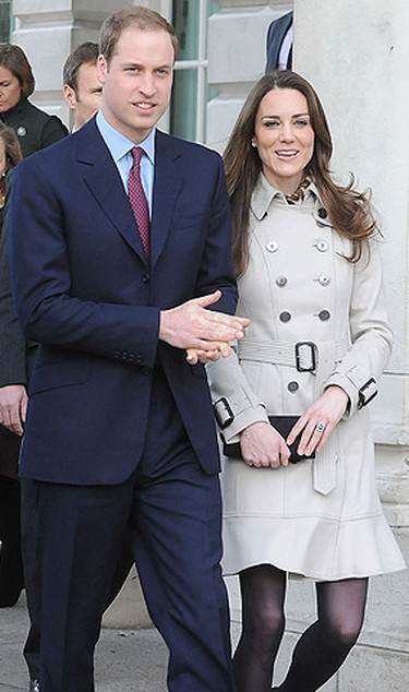 Prince William and Kate Middleton visit City Hall in Belfast, Northern Ireland on March 8, 2011. (Pool/Anwar Hussein Collection/WENN.COM)