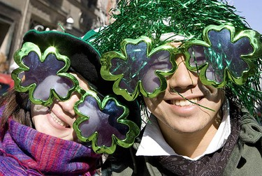 Dancers, musicians and Toronto personalities marched along lined streets during the 2009 St. Patrick's Day Parade held March 15, 2009 in downtown Toronto. (DAVE THOMAS, Sun Media)