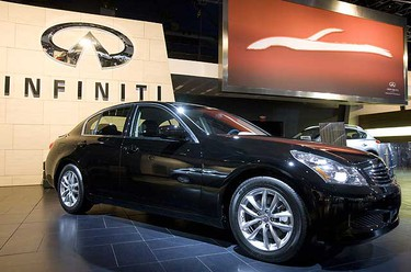 The 2010 Infiniti G37  was introduced to the media Wednesday as The Toronto Car Show prepares to officially open on Friday, Feb 13. 2009. (Stan Behal/SUN MEDIA)