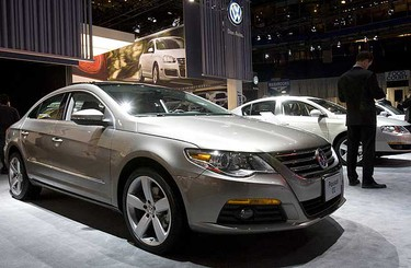 The Volkswagen Passat CC was awarded Best New Family Car over $30,000. by The Automobile Journalists Association of Canada and was introduced to the media Wednesday as The Toronto Car Show prepares to officially open on Friday, Feb 13. 2009. (Stan Behal/SUN MEDIA)