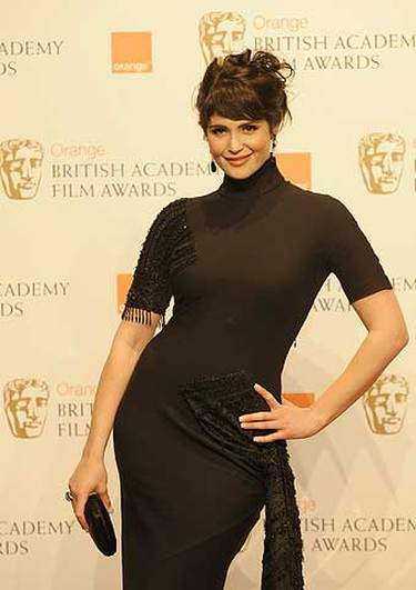 British actress Gemma Arterton poses during the 2009 BAFTA (British Academy of Film and Television Arts) awards ceremony at the Royal Opera House in London Feb. 8, 2009. REUTERS/Toby Melville