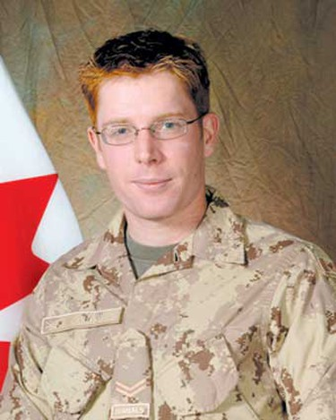 Cpl. Matthew McCully, May 25, 2007: Killed at age 25. McCully was based in Petawawa, Ont. His job was to help develop Afghanistan's military. McCully was part of a group of soldiers helping to develop Afghanistan's military into a cohesive unit that NATO officials hope will one day be able to provide security without the help of coalition forces. (Hand-out)
