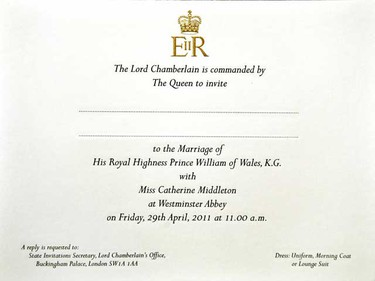 Expect to see a return of monogrammed handkerchiefs and invitations, like the ones Queen Elizabeth sent out for her grandson's wedding. (REUTERS/John Stillwell/POOL)