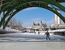 Rideau Canal, Ottawa: Built in 1832 by the military as protection in case of a U.S.-lead war, the Rideau Canal is now one of the most popular tourist attractions in Ottawa, as well as a UNESCO World Heritage Site.