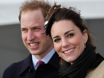 Prince William and bride-to-be Kate Middleton performed their first official engagement as a couple at a Naming Ceremony and Service of Dedication for the Royal National Lifeboat Institution's (RLNI) new Atlantic 85 Lifeboat, the 'Hereford Endeavour', at Trearddur Bay Lifeboat Station on February 24, 2011. (REUTERS/Phil Noble)