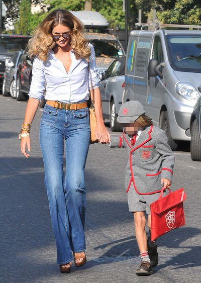 Model: <B>Elle Macpherson</b><br>Mother to: Sons Arpad and Aurelius.<br>Quick fact: Macpherson, 49, had her second son, Aurelius, when she was 39.  (WENN.com)