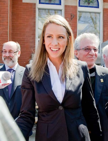 The mysterious Ruth Hélène Brosseau makes her first appearance on Wednesday, May 11 in Louiseville Quebec.  JOCELYN MALETTE/JOURNAL DE MONTRÉAL/QMI AGENCY