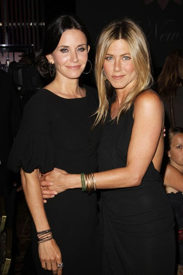 Courteney Cox-Arquette and Jennifer Aniston The 2010 Crystal + Lucy Awards: A New Era held at The Hyatt Regency Century Plaza in Century City Los Angeles, California - 01.06.10 Mandatory Credit: FayesVision/WENN.com