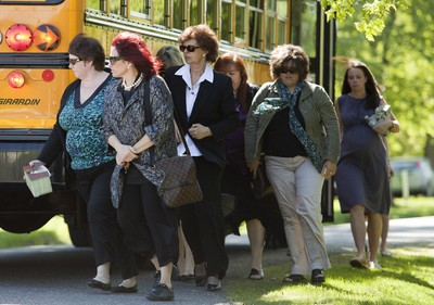 20110603_leighton -funeral535 - June 3, 2011  - Family and friends arrive to the funeral of Eric Leighton who died in an explosion at his high school last week, arrive at St. Patrick's Church in Nepean, ON, Friday, June 4, 2011. (DARREN BROWN/QMI AGENCY)