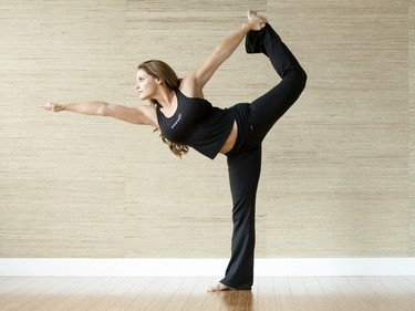 Former WWE Superstar Trish Stratus practices Yoga at her Studio, Stratusphere in Vaughan, Ont. (MARK O'NEILL/QMI AGENCY)