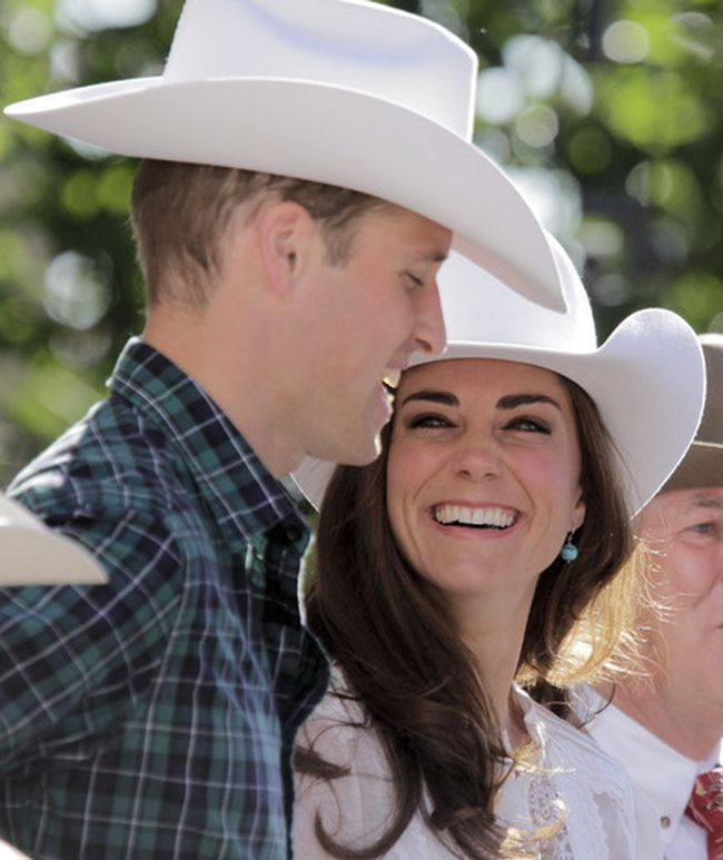 The Duke and Duchess of Cambridge at the Stampede Parade