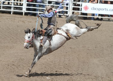 This isn't for everyone. Here, an expert rides a horse during the Calgary Stampede. (QMI AGENCY)