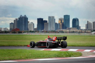 Oliver Webb jockey for position during the Indy Lights race at the Indy at City Centre Airport  in Edmonton, AB on July 23, 2011.  CANDICE WARD/EDMONTON SUN QMI AGENCY