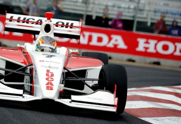 Esteban Guerrieri jockey for position during the Indy Lights race at the Indy at City Centre Airport  in Edmonton, AB on July 23, 2011.  CANDICE WARD/EDMONTON SUN QMI AGENCY