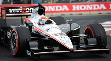 Will Power rounds turn one during the Fast Six round of IZOD IndyCar Series at the Edmonton Indy at the City Centre Airport on July 23, 2011 in Edmonton, AB. CANDICE WARD/EDMONTON SUN  QMI AGENCY