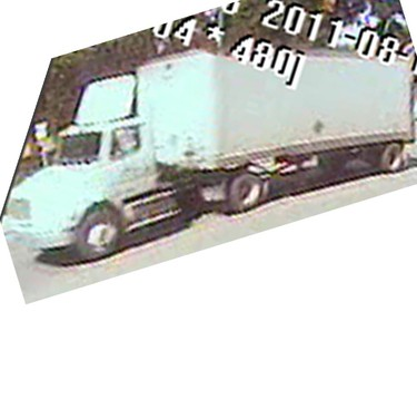 Winnipeg police are looking for the driver of this truck that fled the scene after running over a cyclist. (Handout)