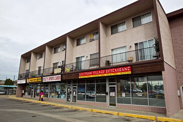 This strip mall, located on 118 Avenue and 80 Street, was the scene of a stabbing shortly after midnight on Sunday in Edmonton on Monday, August 22, 2011. CODIE MCLACHLAN/EDMONTON SUN QMI AGENCY