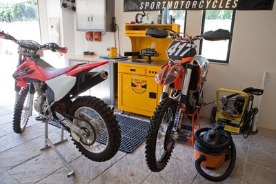 Elvis Stojko's motorcycles parked in his garage at his home in Ajijic, Mexico, approximately 60 kilometres south of Guadalajara, on Oct. 15, 2011. (QMI Agency)