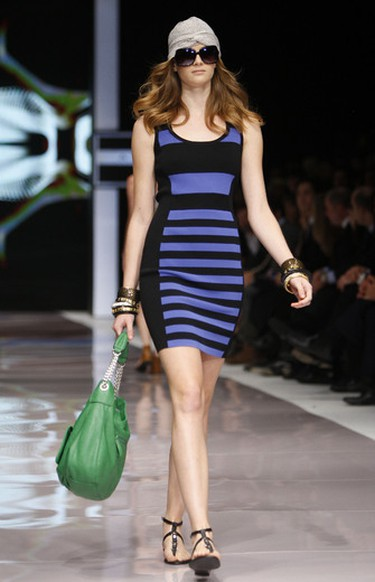 A model shows off designs by Jay Manuel's Attitude for Sears line at LG Fashion Week in Toronto, October 18, 2011. (Mark O'Neill/QMI Agency)