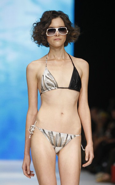 Swimwear designer Tosca Defino shows her spring/summer 2012 collection on October 18, 2011 at Toronto's LG Fashion Week. (MARK O'NEILL/QMI Agency)