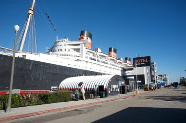 RMS Queen Mary, Long Beach, California: This retired ocean liner turned floating hotel hosts ghost tours to sate the appetites of tourists hungry for a glimpse of the famed hauntings on board. There have been 49 deaths on the ship and guests have reported seeing spirits walking the hallways, swimming in the first-class pool and even manning the engine room. (Shutterstock)