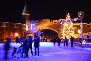 Quebec City, Canada: Ready yourself for a Winter Wonderland at the Quebec Winter Carnival, complete with snow sculptures, canoe races and sleigh rides. If you can't make the Carnival, take a toboggan ride in the centre of Old Quebec at Les Glissades de la Terrasse Dufferin.(Shutterstock)