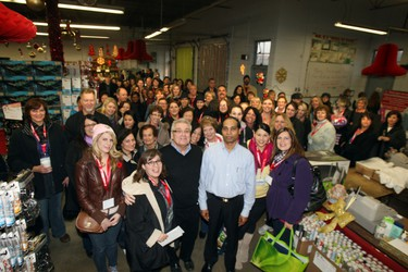 Shoppers start their day at Mr.B's Warehouse sale during Rita's Magical Magical Mystery Shopping Tour held on Saturday, November 19, 2011.(Veronica Henri/Toronto Sun/QMI Agency).