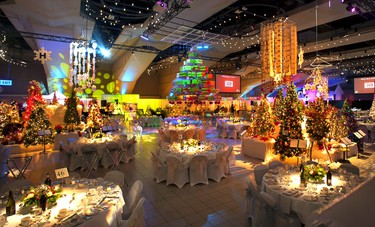 Festival of trees set up