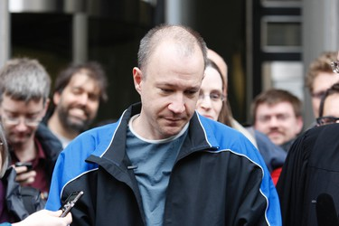 Byron Sonne walks out of 361 University Courthouse last May. (CRAIG ROBERTSON/Toronto Sun files)
