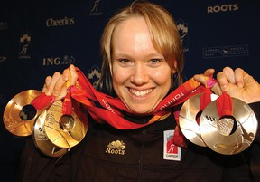 Cindy Klassen, who won five medals at the 2006 Olympics, will be inducted into the Canadian Sports Hall of Fame