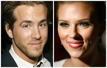 SCARLET JOHANSSON AND RYAN REYNOLDS Tough to figure out what might have happened here ... until she started dating Sean Penn. Yes, bad taste is grounds for divorce. (REUTERS/Eric Thayer)