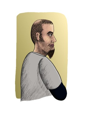 Chad Baillargeon of Gatineau is seen in this Jan. 6, 2011 courtroom sketch. (Colin White/QMI Agency)