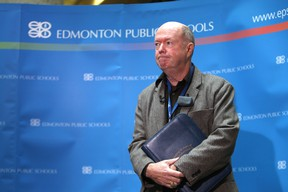 Dave Colburn, chair for Edmonton Public Schools, welcomes the extensive public input on the proposed new Education Act. (EDMONTON SUN/File)