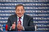"""Defense Secretary Leon Panetta answers a question during CBS's """"Face the Nation"""" program in Washington January 6, 2012 in this handout picture released to Reuters January 8, 2012."""